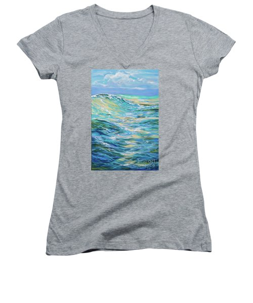Bodysurfing North Women's V-Neck T-Shirt