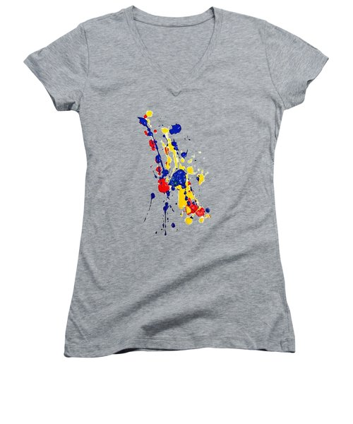 Boink T-shirt Women's V-Neck T-Shirt (Junior Cut) by Herb Strobino