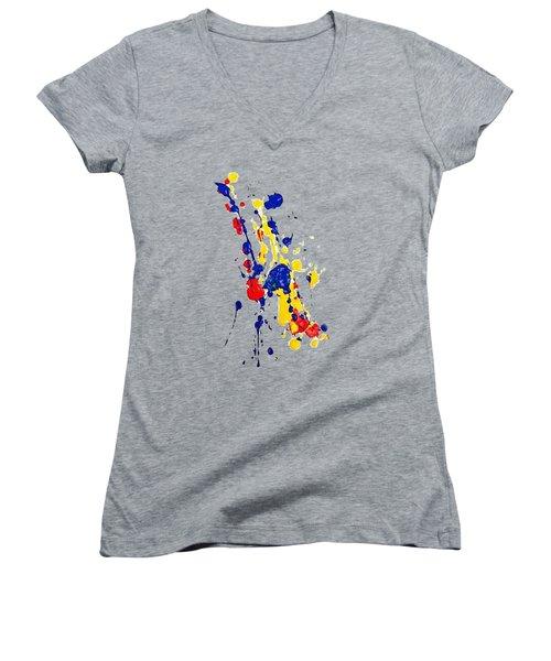 Boink T-shirt Women's V-Neck (Athletic Fit)