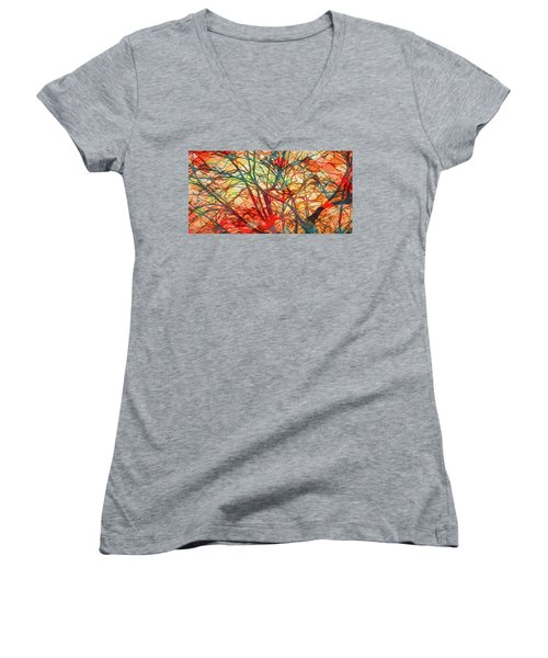 Bold And Colorful Women's V-Neck
