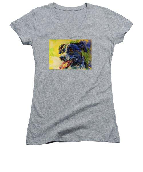 Bonny Women's V-Neck T-Shirt (Junior Cut) by Koro Arandia