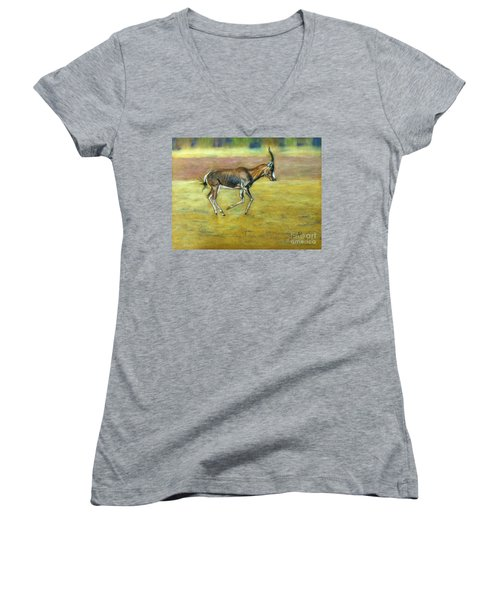 Bontebok Women's V-Neck T-Shirt