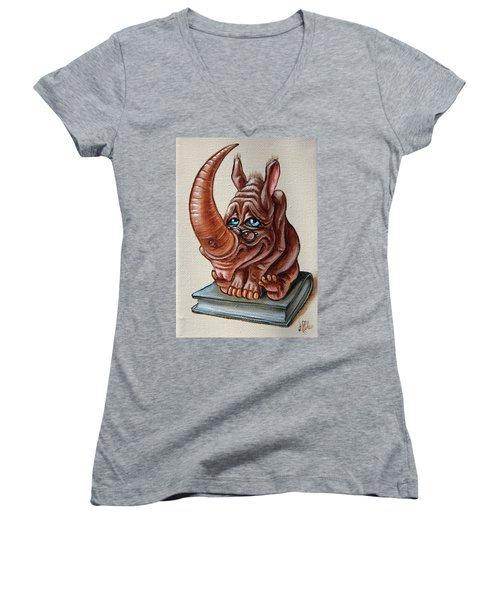 Bookworm Women's V-Neck (Athletic Fit)