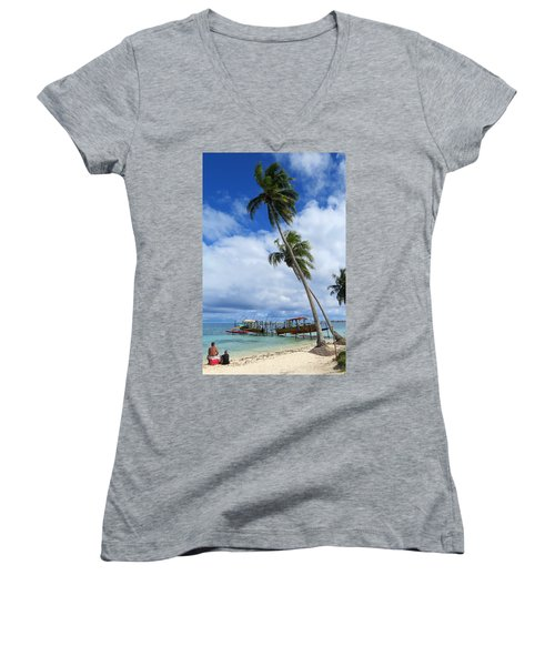 Bora Bora View Women's V-Neck T-Shirt