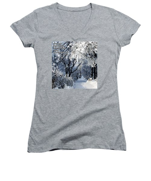 Born This Day Women's V-Neck T-Shirt (Junior Cut) by Judi Saunders
