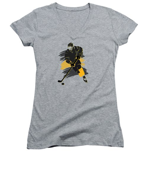 Boston Bruins Player Shirt Women's V-Neck (Athletic Fit)