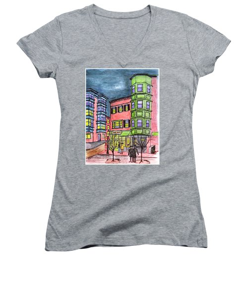 Boston Northend Women's V-Neck T-Shirt