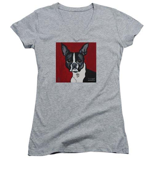 Boston Terrier Women's V-Neck