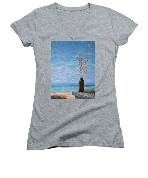 Bottle And Sea Oats Women's V-Neck