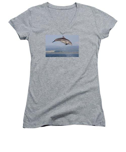 Bottlenose Dolphin - Scotland #3 Women's V-Neck