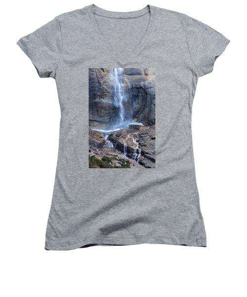 Bottom Part Of Upper Yosemite Waterfall Women's V-Neck