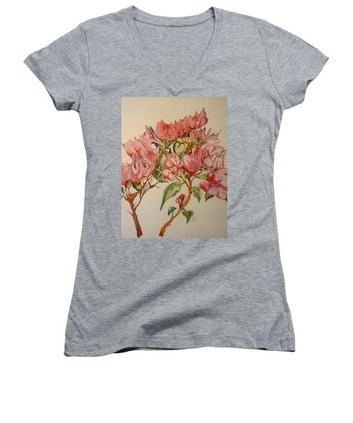 Bougainvillea Women's V-Neck T-Shirt