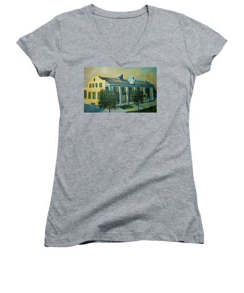 Boulder Dam Hotel, Boulder City, Nevada Women's V-Neck T-Shirt