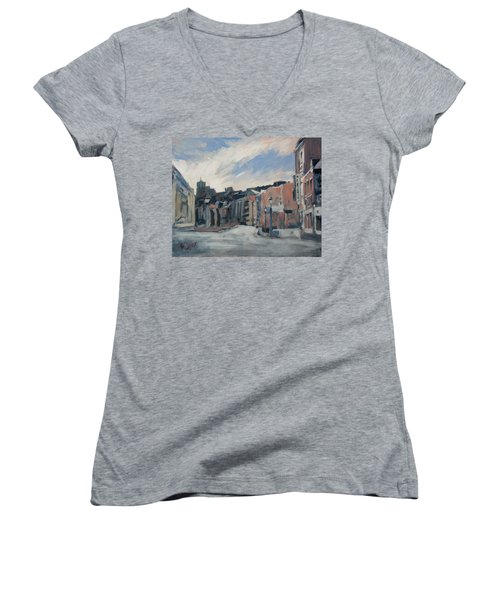 Boulevard La Sauveniere Liege Women's V-Neck T-Shirt