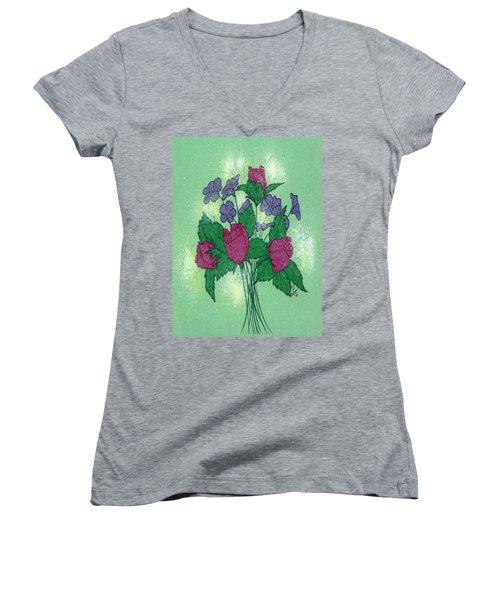 Bouquet Women's V-Neck T-Shirt