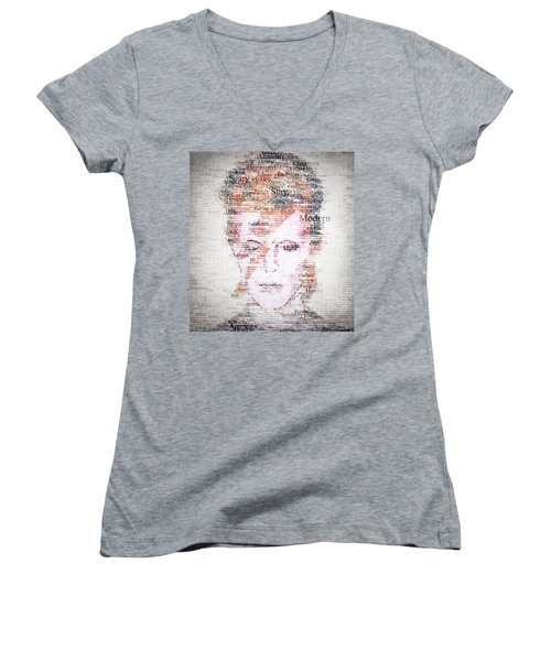 Bowie Typo Women's V-Neck (Athletic Fit)
