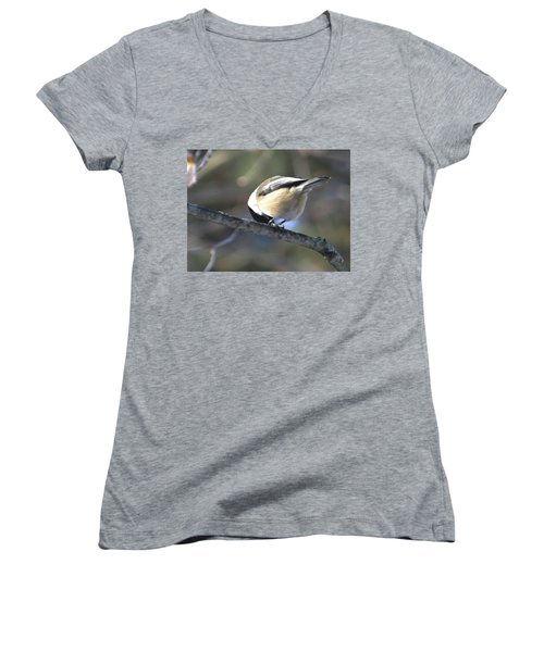 Bowing On A Branch Women's V-Neck