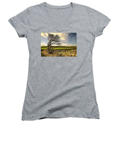 Bowing To The Wind Women's V-Neck
