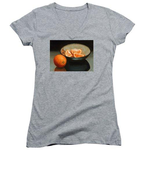 Bowl Of Oranges Women's V-Neck