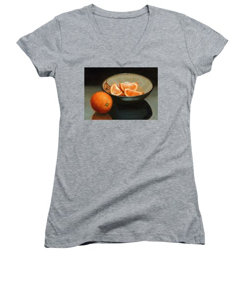 Bowl Of Oranges Women's V-Neck (Athletic Fit)