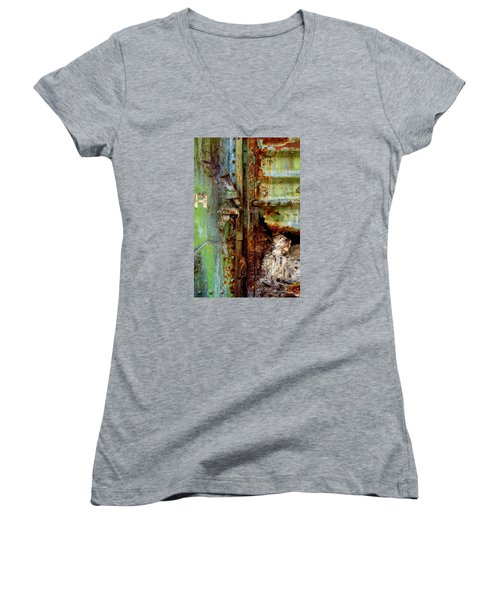 Boxcar 1 Women's V-Neck T-Shirt (Junior Cut) by Newel Hunter