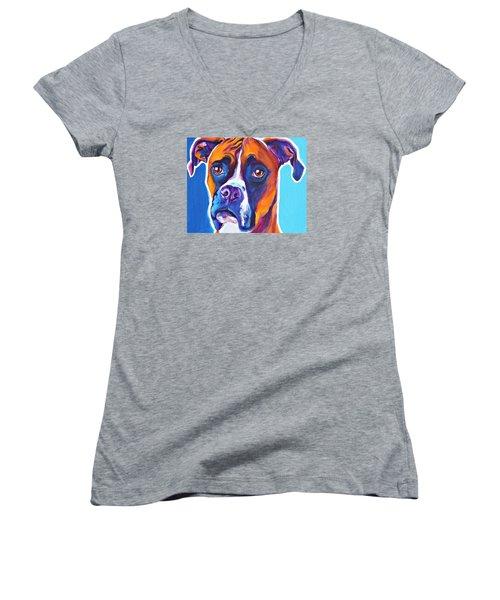 Boxer - Rex Women's V-Neck T-Shirt