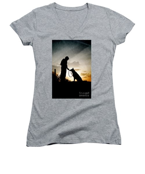 Boy And His Dog Women's V-Neck