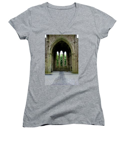 Boyle Abbey In Ireland 2 Women's V-Neck T-Shirt