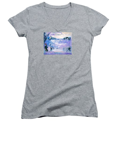 Be Brave By Colleen Ranney Women's V-Neck