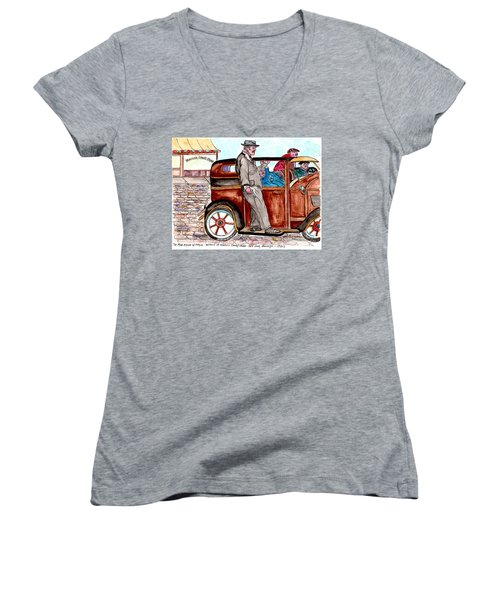 Bracco Candy Store - Window To Life As It Happened Women's V-Neck T-Shirt (Junior Cut)