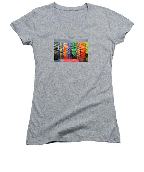 Bracelets Women's V-Neck T-Shirt (Junior Cut) by Lewis Mann