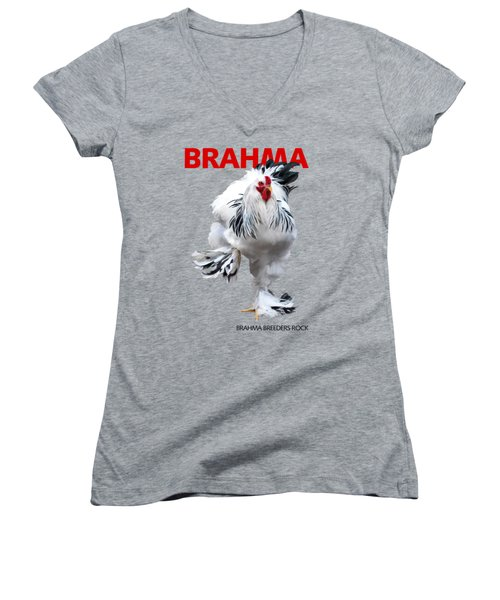 Brahma Breeders Rock Red Women's V-Neck