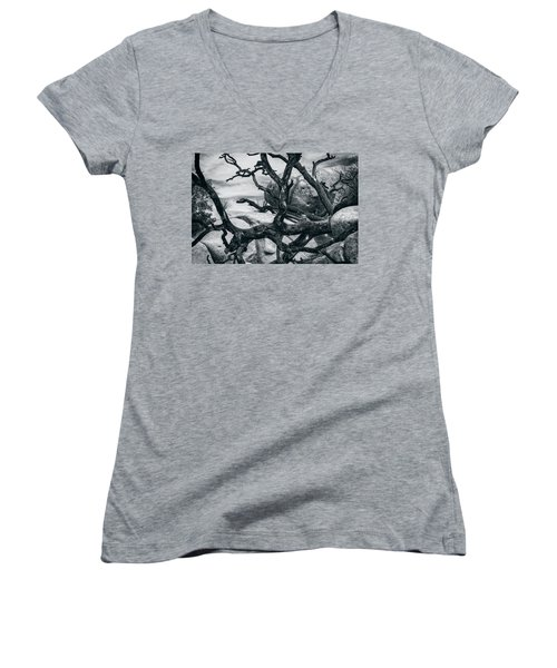 Branches Series 9150697 Women's V-Neck T-Shirt