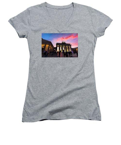 Branderburg Gate Women's V-Neck T-Shirt