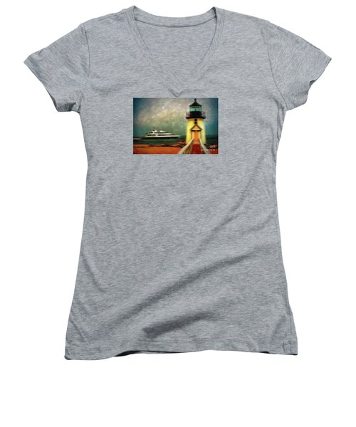 Brant Women's V-Neck T-Shirt (Junior Cut) by Jack Torcello