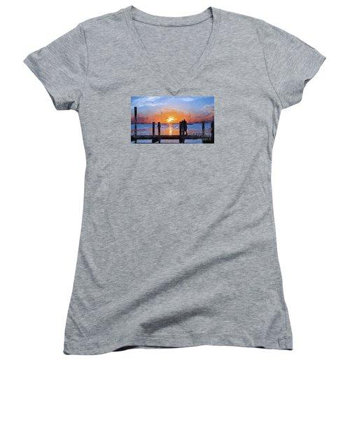 Break On Through  Women's V-Neck T-Shirt