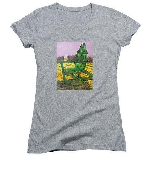 Break Time Women's V-Neck T-Shirt (Junior Cut) by Jack G  Brauer