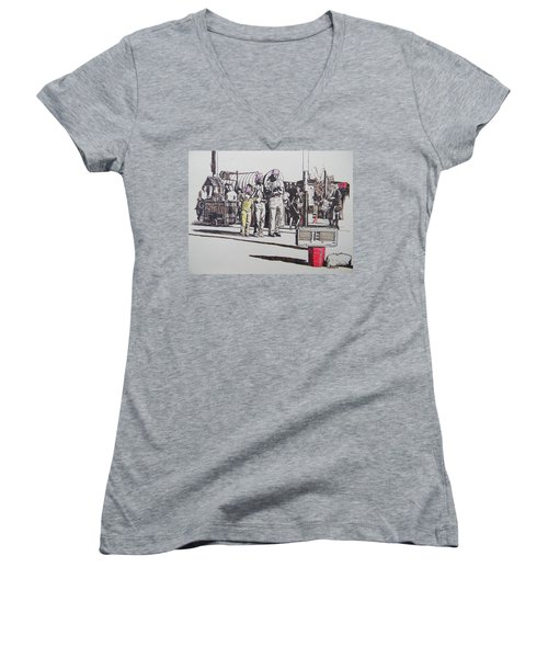 Breakdance San Francisco Women's V-Neck