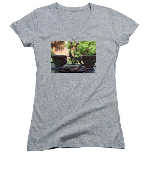 Breakfast Time Women's V-Neck T-Shirt