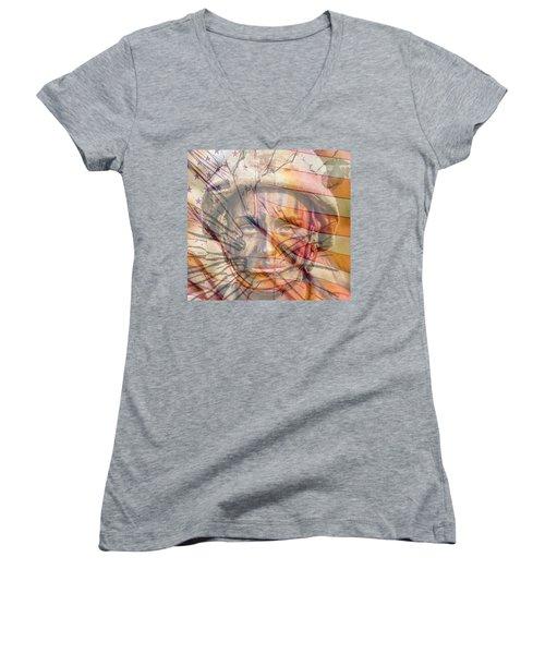 Breaking The Glass Ceiling Women's V-Neck T-Shirt
