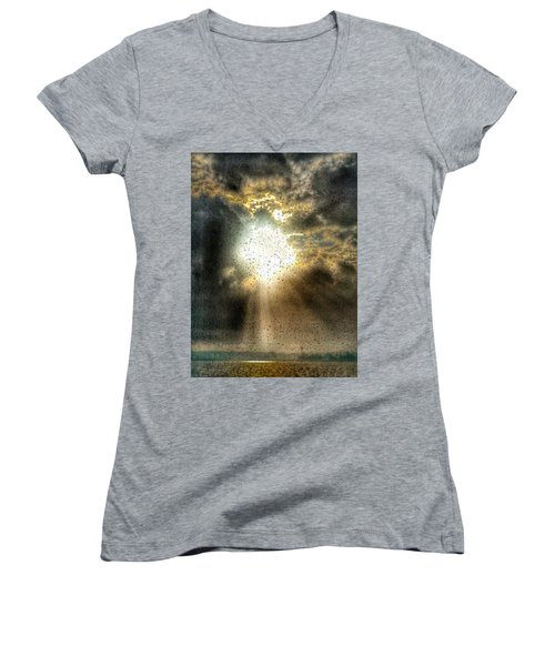 Breaking Through Women's V-Neck (Athletic Fit)