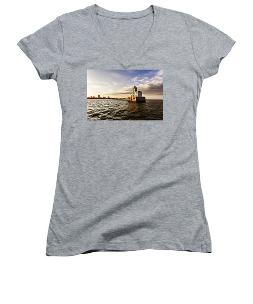 Breakwater Lighthouse Women's V-Neck (Athletic Fit)