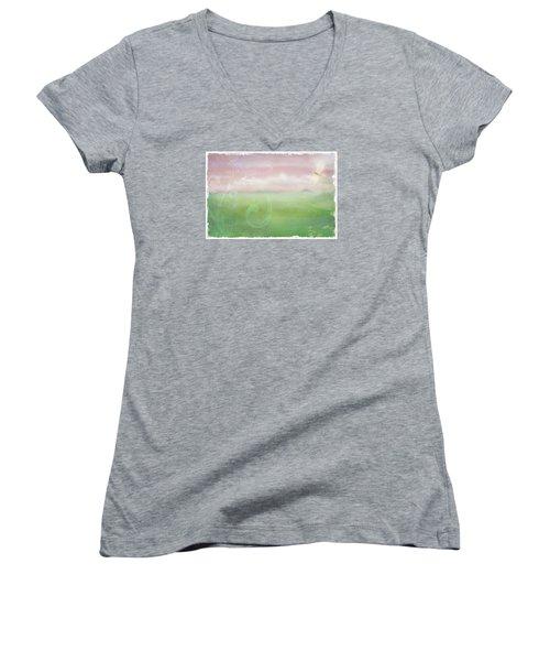Breath Of Spring Women's V-Neck T-Shirt