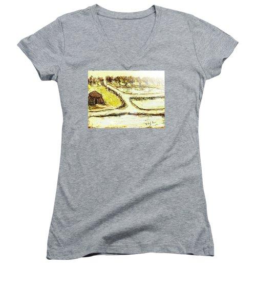 Breathing Zone3 Women's V-Neck T-Shirt