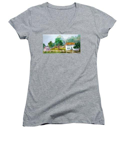 Brecknock Park Women's V-Neck T-Shirt (Junior Cut) by Larry Hamilton