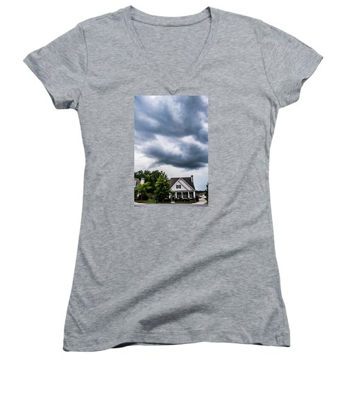 Brewing Clouds Women's V-Neck