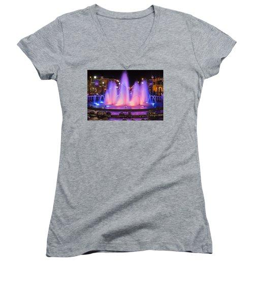 Bricktown Fountain Women's V-Neck T-Shirt (Junior Cut)