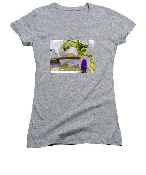 Bridge Flower.  Women's V-Neck