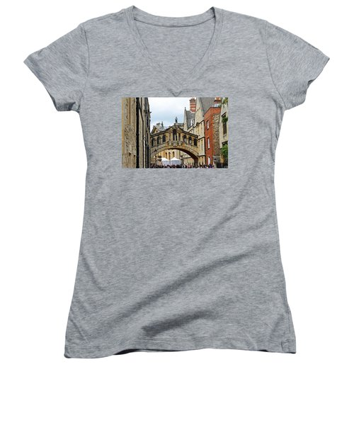 Bridge Of Sighs Women's V-Neck T-Shirt (Junior Cut) by Tony Murtagh