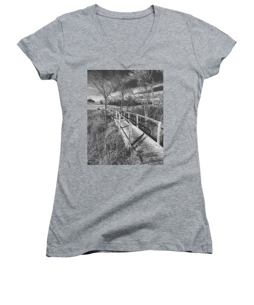 Bridge On The Prairie Women's V-Neck